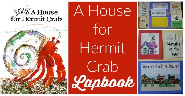 A House for Hermit Crab Lapbook & Unit Study (Kindergarten) from Walking by the Way