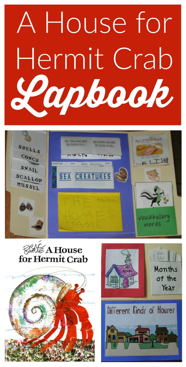 A House for Hermit Crab Lapbook and Unit Study