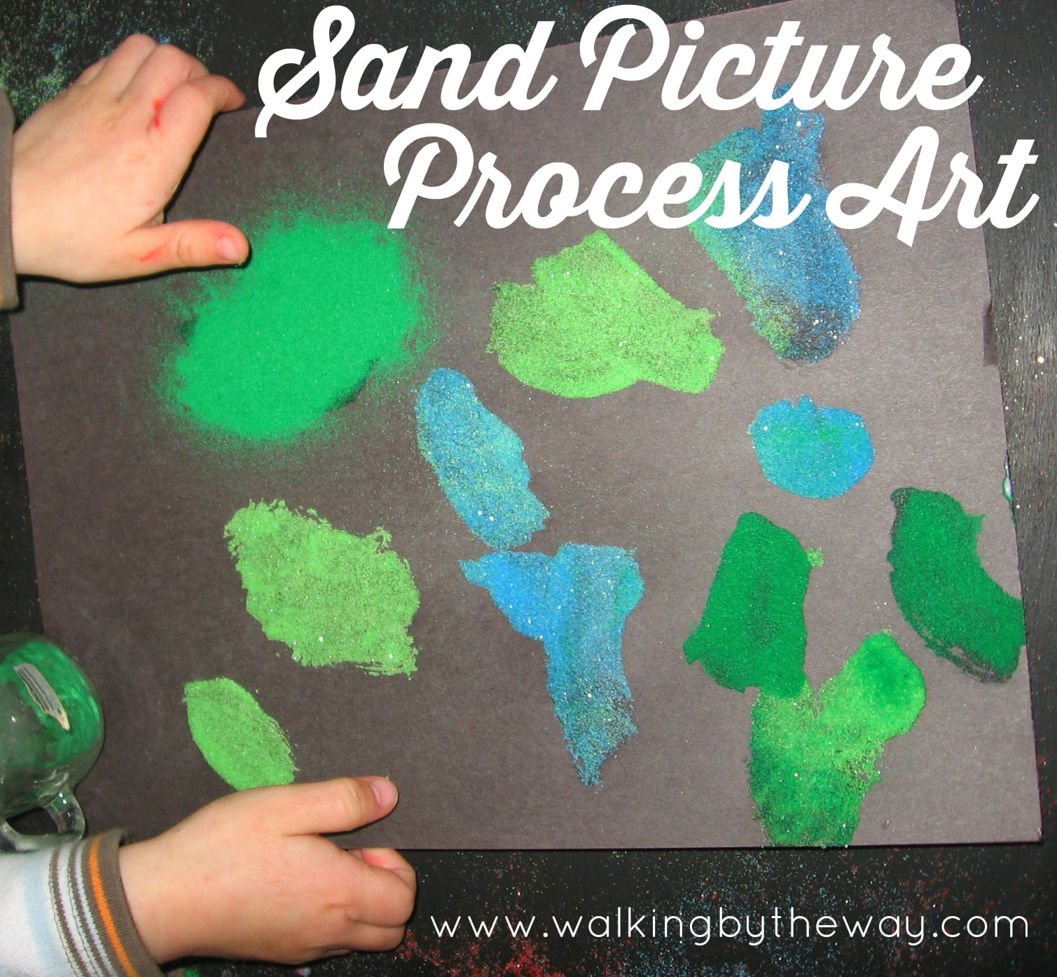 Sand Picture Process Art for toddlers and preschoolers from Walking by the Way