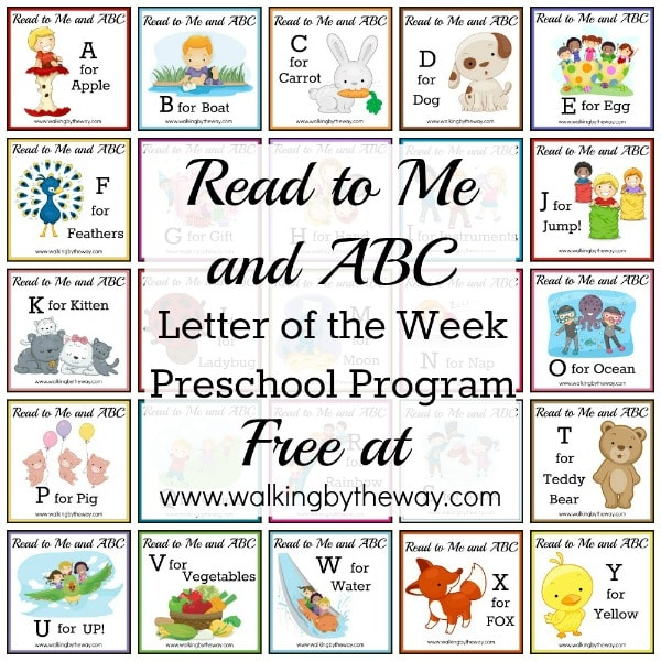 Read to Me and ABC Letter of the Week Program FREE from Walking by the Way