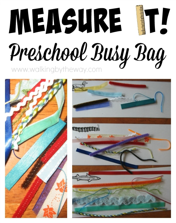 Preschool Busy Bag: Measuring Activity
