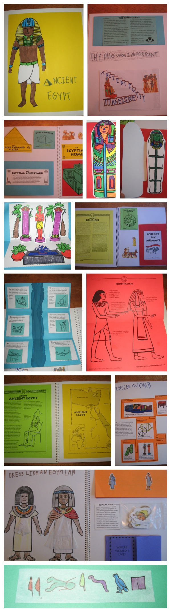 Ancient Egypt Unit Study Notebook from Walking by the Way
