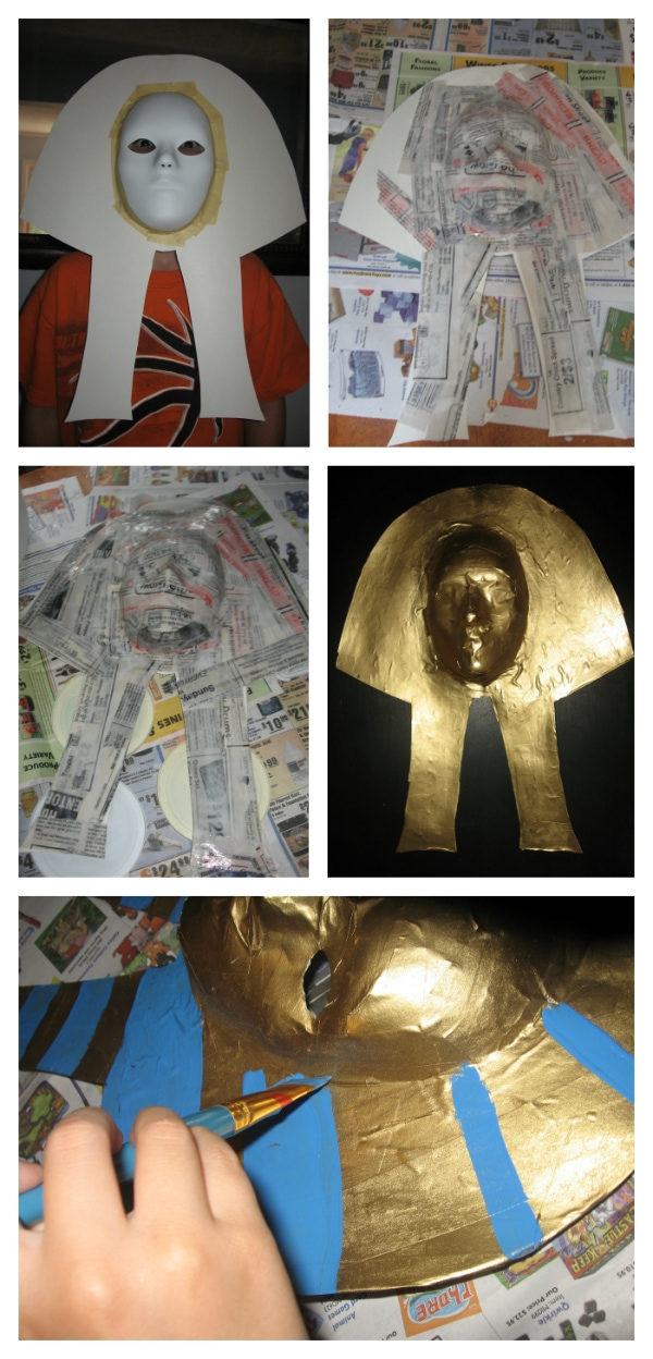 Make a Pharaoh Mask for Your Ancient Egypt Study! from Walking by the Way