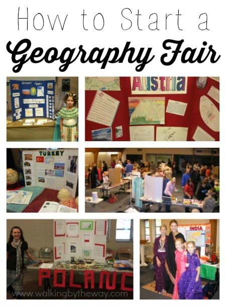 How to Start a Geography Fair for Your Homeschool Group from Walking by the Way