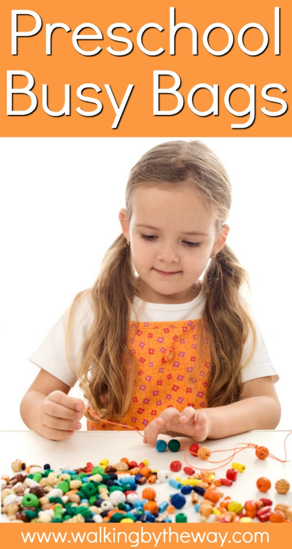 Activity Bags to Keep Toddlers and Preschoolers Busy! Ideas from Walking by the Way