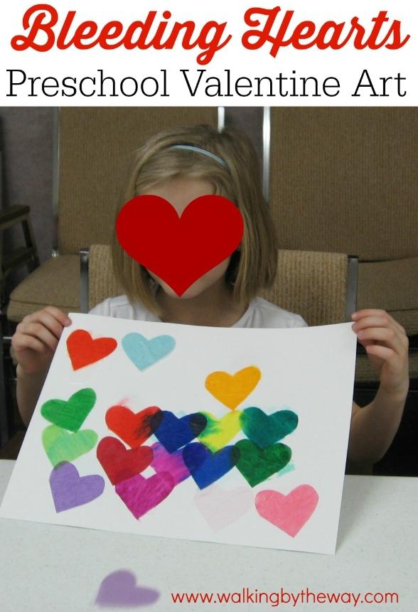 Bleeding Hearts: Preschool Valentine Art from Walking by the Way