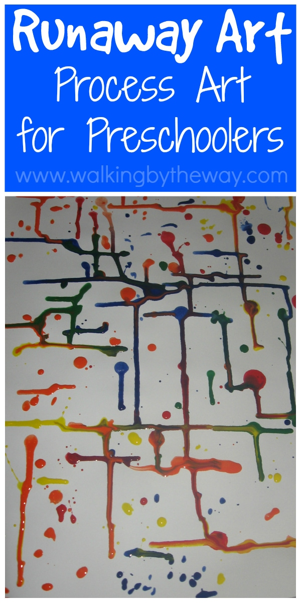 Runaway Art Preschool Process Art Activity from Walking by the Way