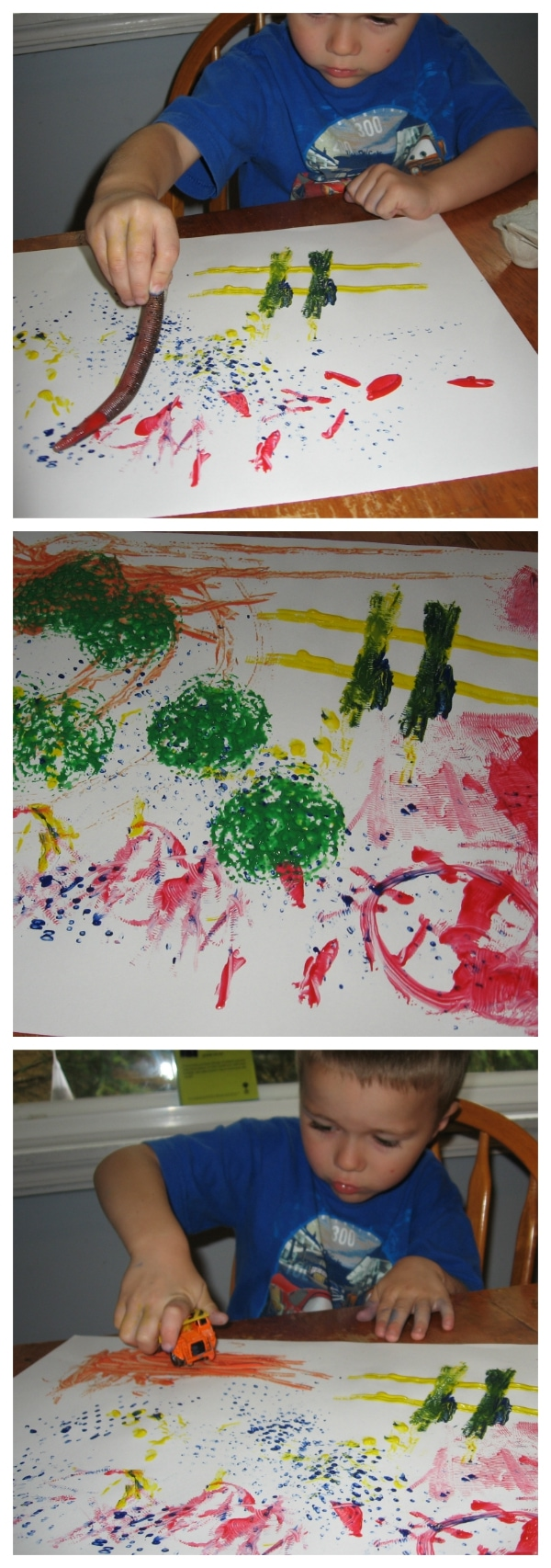 "Painting with our ""Fancy Paintbrushes"" from Walking by the Way"