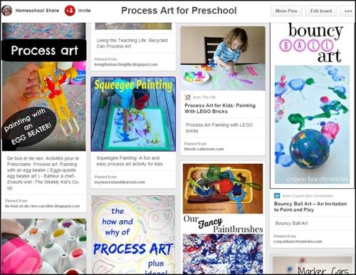 Process Art for Preschool Pinterest Board