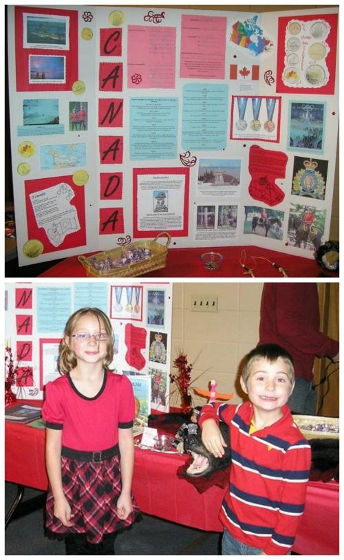 Canada Geography Fair Display