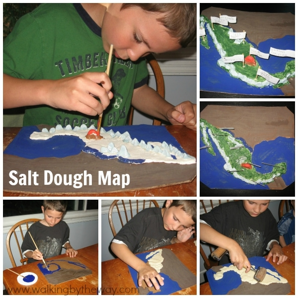 Geography Fair Project - Salt Dough Map of Mexico