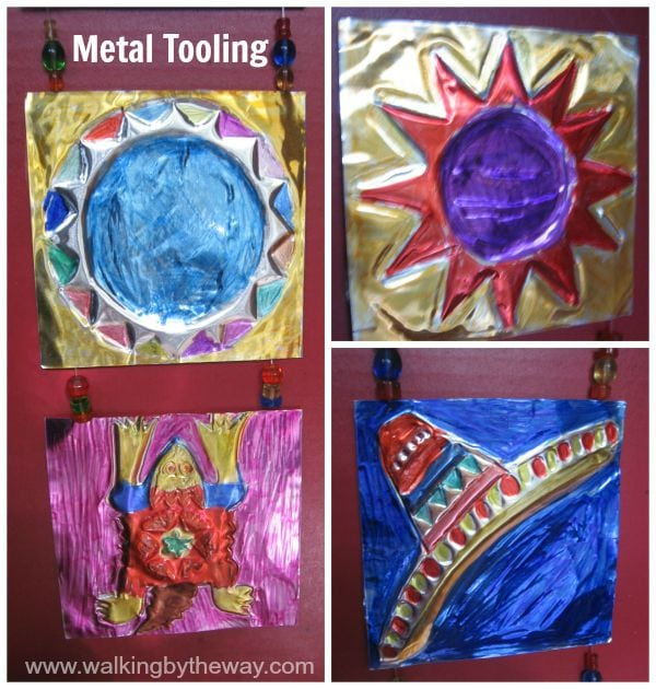 Geography Fair Project for Mexico - Metal Tooling Art
