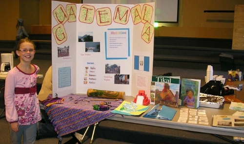 Guatemala Geography Fair Display