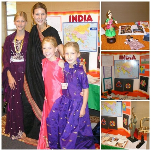 India Geography Fair Display