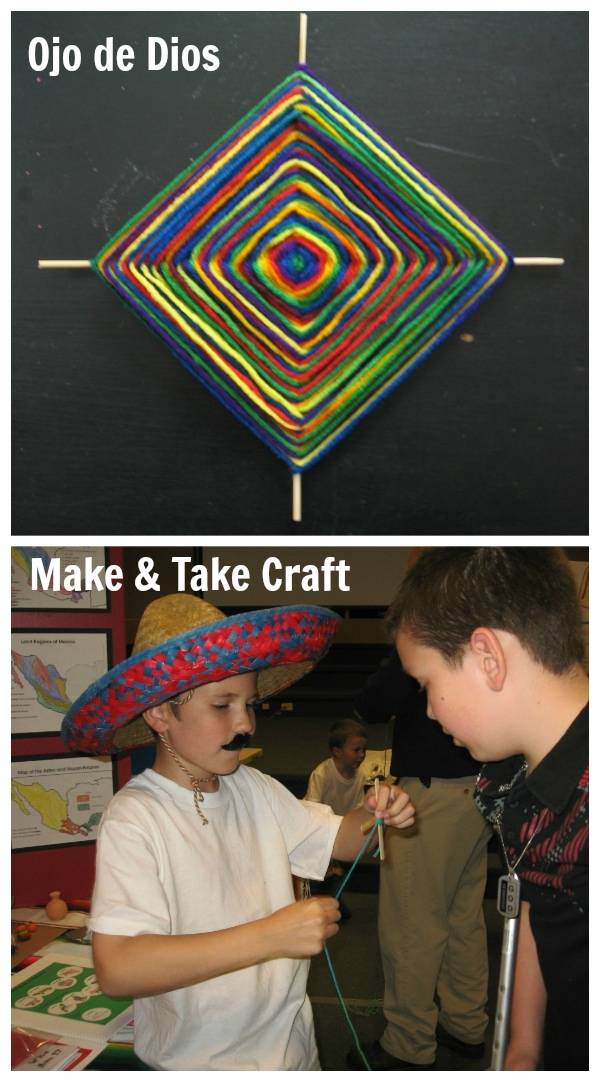 Make and Take Craft - Ojo de Dios for Mexico Geography Fair