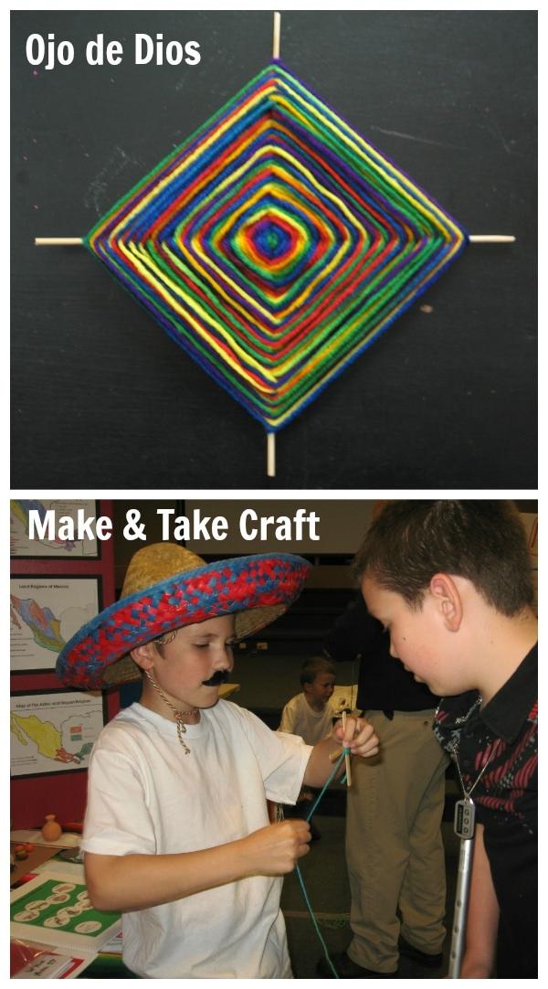 Make and Take Craft - Ojo de Dios for Mexico Geography Fair