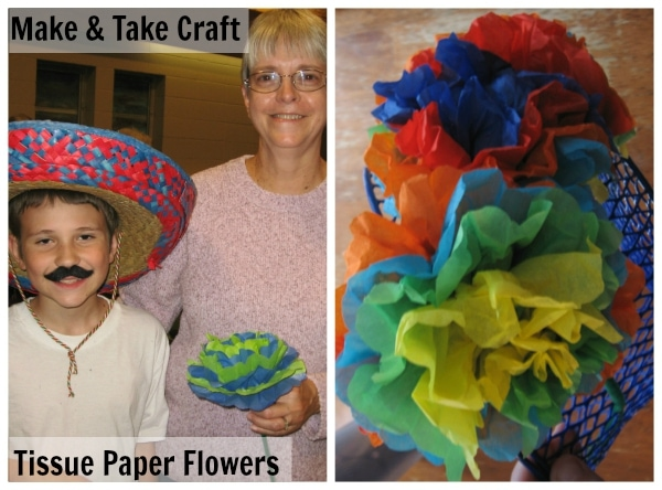 Make and Take Craft - Tissue Paper Flowers