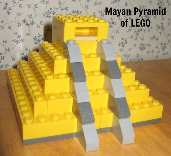 Mayan Pyramid of LEGO Geography Fair Project