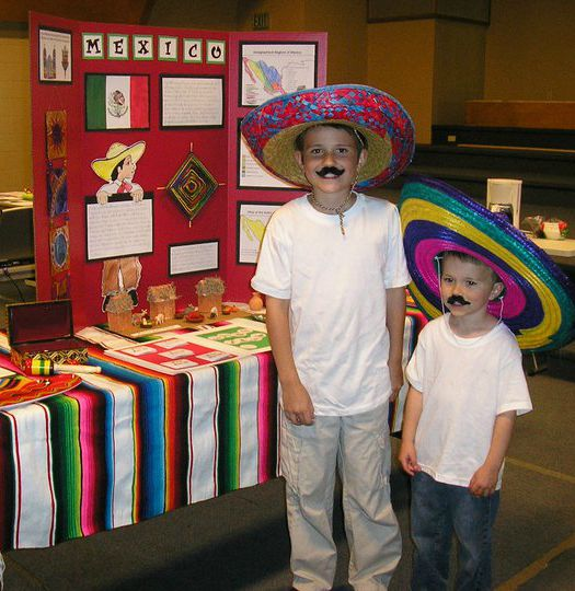 Mexico Geography Fair Display