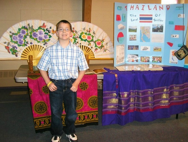 Thailand Geography Fair Display