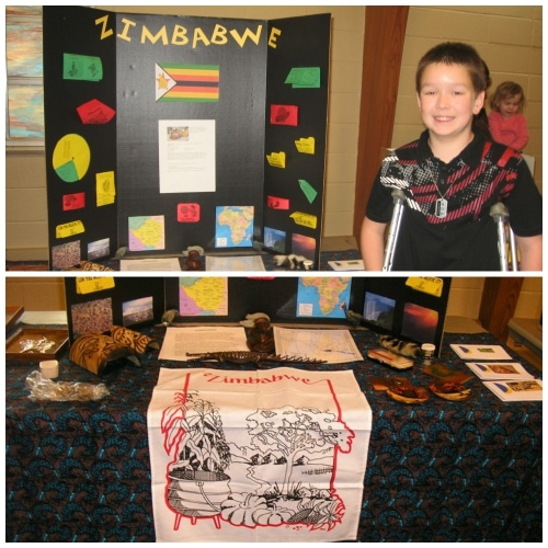 Zimbabwe Geography Fair Display