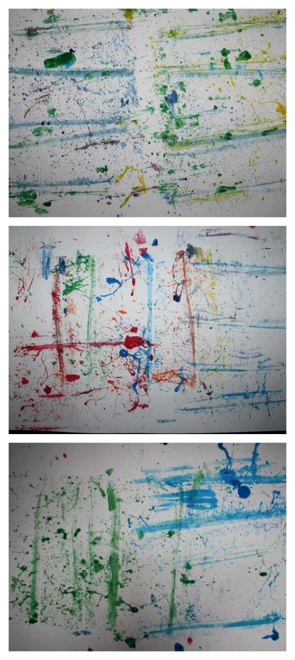 Preschool Process Art: Snap Paintings from Walking by the Way