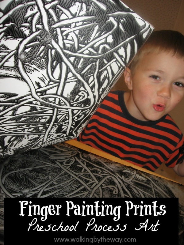 Finger Painting Prints Process Art from Walking by the Way