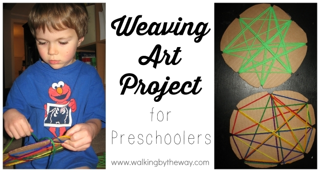 Weaving Art Project for Preschoolers from Walking by the Way