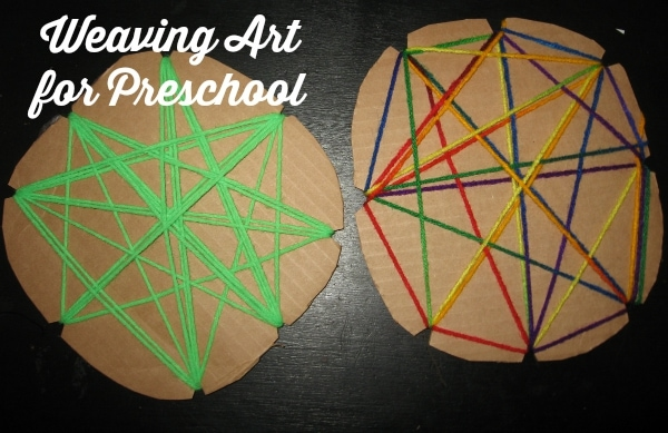 Weaving Art for Preschool makes a great Preschool Busy Bag Activity (from Walking by the Way)