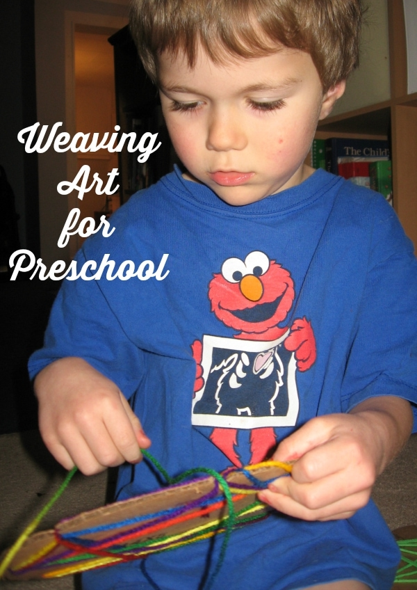 Weaving Art for Preschool would make a great Preschool Busy Bag Activity