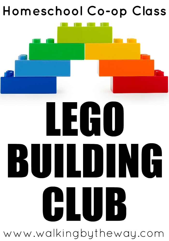 Lego Building Club Homeschool Co-op Class Idea from Walking by the Way