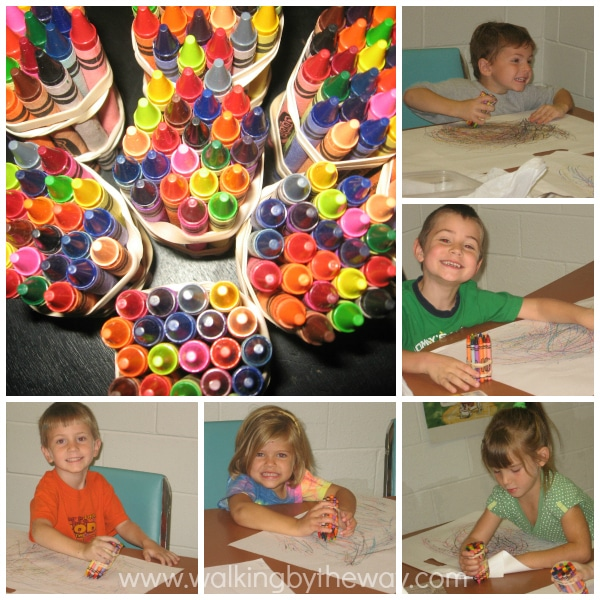 Crayon Bundles Process Art for Preschool Homeschool Art Class
