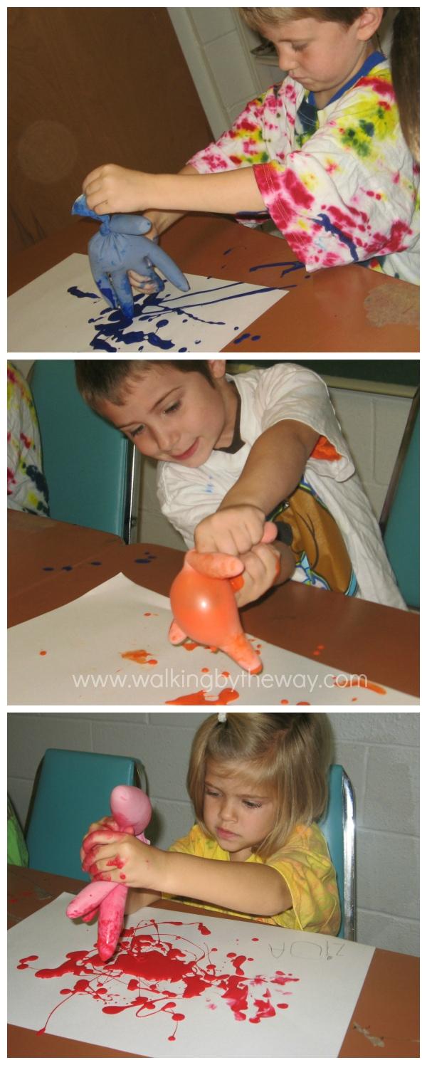 Drip Paintings Process Art for Preschool Homeschool Art Class
