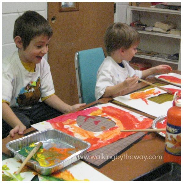 Negative Space Paintings Preschool Art