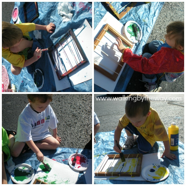 Snap Paintings Preschool Process Art for Homeschool Co-op Class