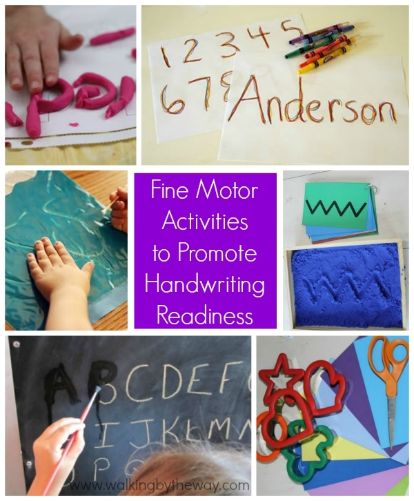 Fine Motor Activities to Promote Handwriting Readiness from Walking by the Way