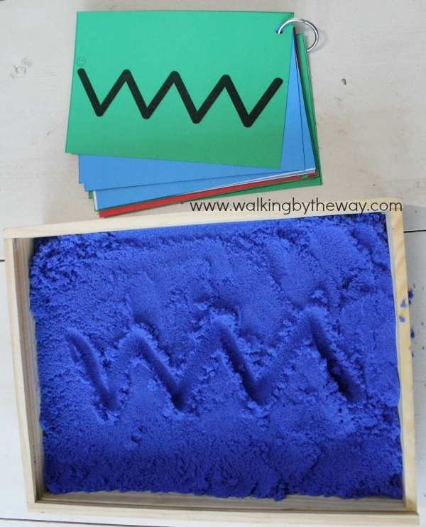Free Sandbox Writing Cards from Walking by the Way