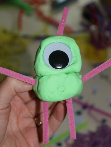 Monster Masterpieces: Creative Play-doh Activity