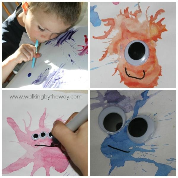 Monster Blow Art Activity