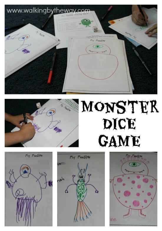 Monster Mash Kindergarten Kit -- Roll-a-Monster Activity
