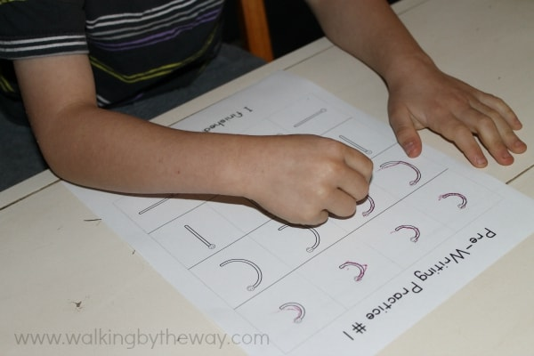 Pre Writing Practice Pages for Preschool and Kindergarten