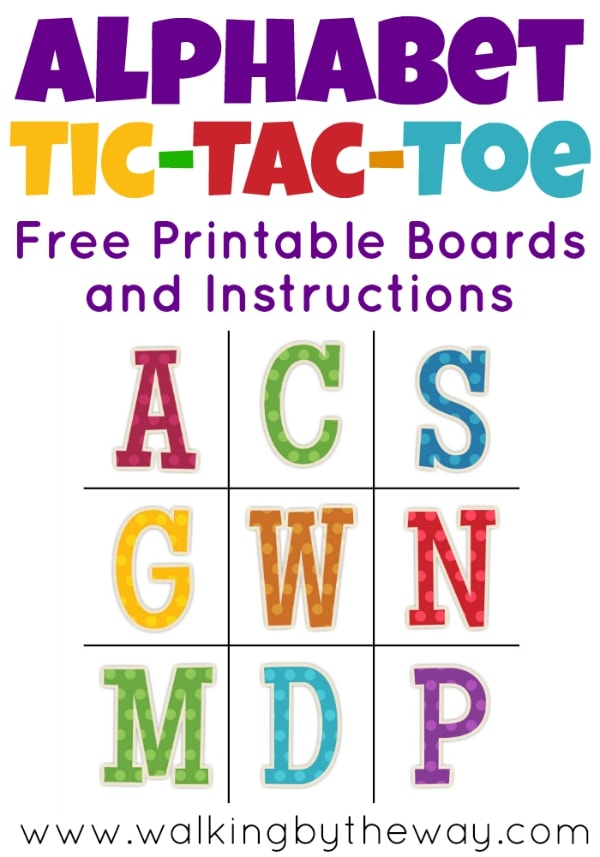 photograph regarding Free Printable Tic Tac Toe Board known as Alphabet Tic-Tac-Toe - Strolling by means of the Course