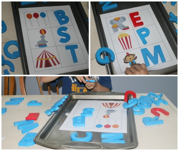 Circus Theme Phonics Learning Activity from Homeschool Share's Kindergarten Kit