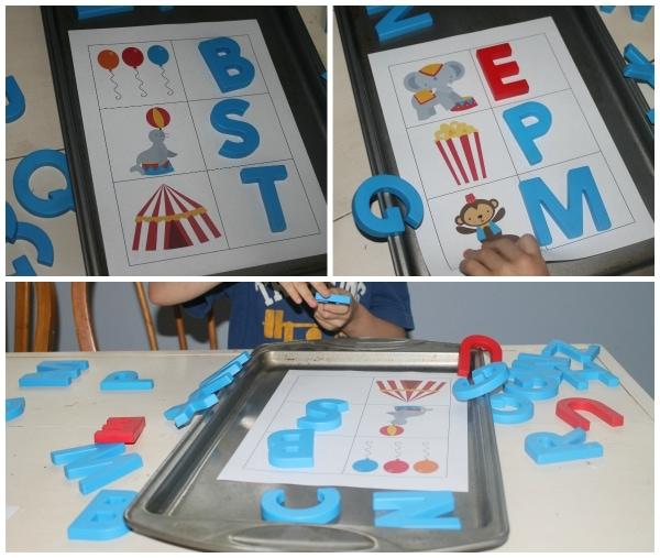 Circus Theme Phonics Learning Activity from Homeschool Share's Kindergarten Kit