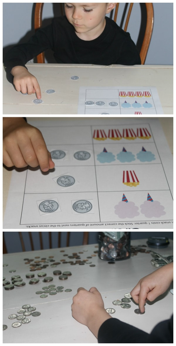Circus Theme Math and Counting Money Activity