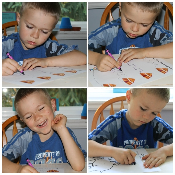 Silly Circus Kit from Homeschool Share: Tracing Lines and Color by Letter