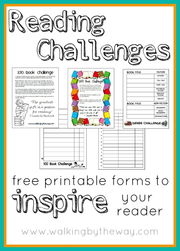 Reading Challenge Free Printable Forms to Inspire Your Reader from Walking by the Way