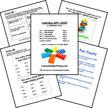 Learning with LEGO Lapbook Unit Study  from Walking by the Way