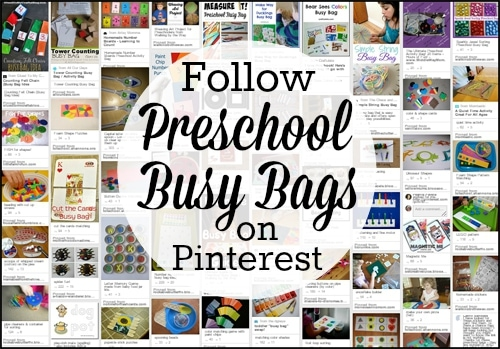 Preschool Busy Bag Activity Board on Pinterest copy