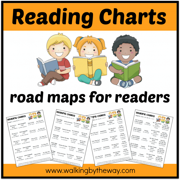 Reading Charts: Road Maps for Beginning Readers (who need to build reading fluency) from Walking by the Way